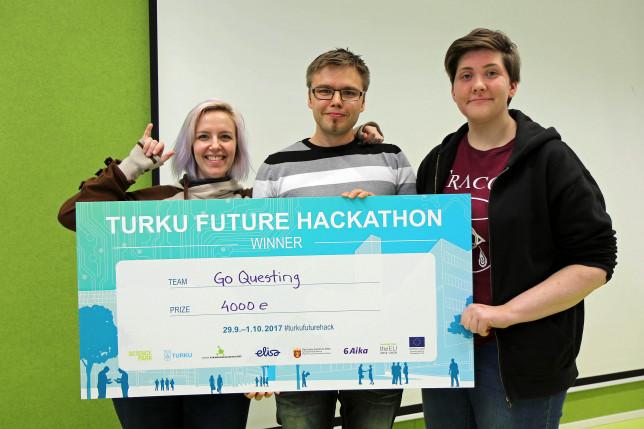 Hackathon-voittaja: Go Questing