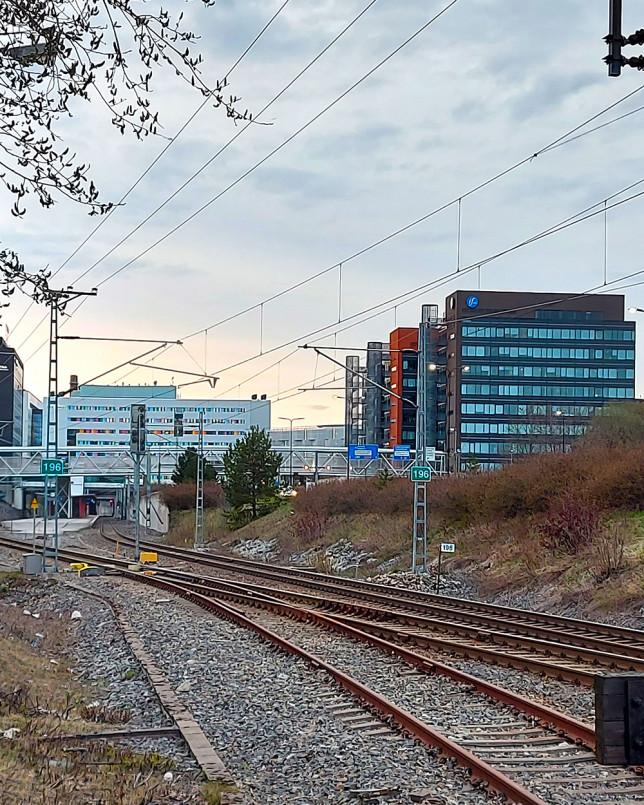 Kupittaan ja Itäharjun välinen rautatie.