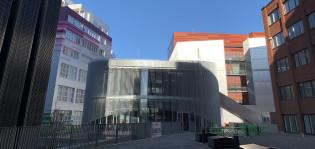 Vierailu- ja innovaatiokeskus Joki Turun Tiedepuistossa.